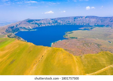 Lake Nemrut is a freshwater crater lake in Bitlis Province, eastern Turkey. It is part of Nemrut Caldera, a volcanic caldera atop Volcano Nemrut.
