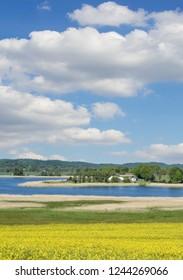 at Lake Neuensiener See near Sellin on Ruegen in Biosphere Reserve,baltic Sea,Mecklenburg western Pomerania,Germany