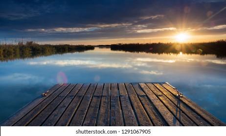 Lake neusiedl in burgenland