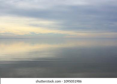 Lake Neusiedl in Burgenland, Austria