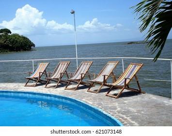 Lake Nicaragua and swimming pool