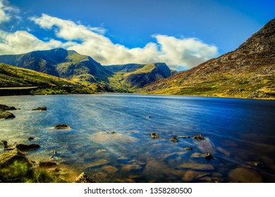 Lake ogwen on the snowdonia national park in north Wales, UK