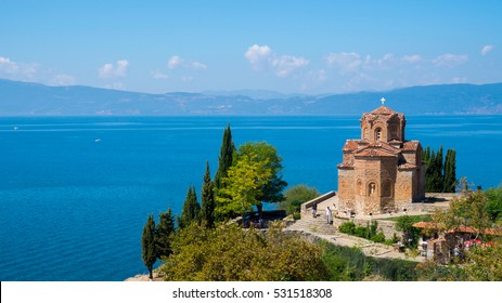 Lake Ohrid, Macedonia, church by the lake