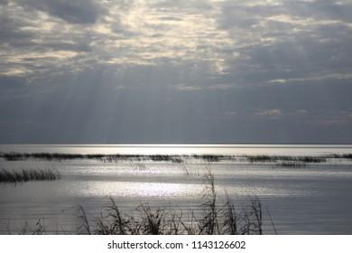 Lake Okeechobee sunlight