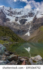 A lake on the Salkantay trail towards Machu Picchu
