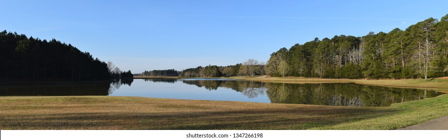 Lake on a spring morning in Trace State Park, Mississippi