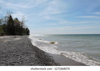 Lake Ontario. Beach at Darlington Provincial Park