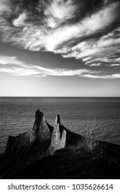 Lake Ontario Spires in Black and White