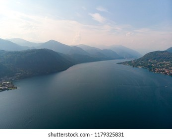 Lake Orta in Italy/ Lago d'Orta by drone