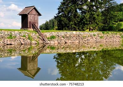 Lake Ottergrund in Banska Stiavnica, Slovakia