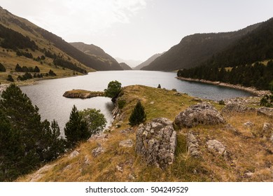 Lake of Oule in Pyrenees, France