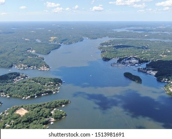 Lake of the ozark from above