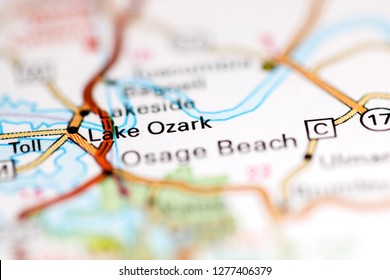 Lake Ozark. Missouri. USA on a geography map