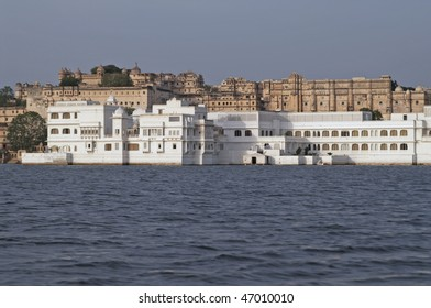 Lake Palace. Rajput style palace floating in the middle of Lake Pichola, Udaipur, Rajasthan, India