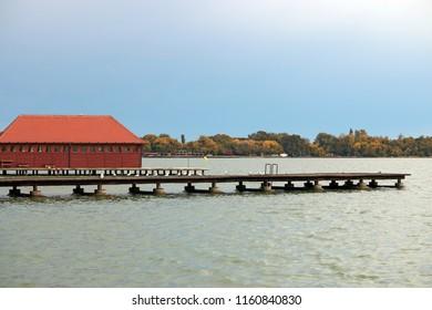 Lake Palic Subotica Serbia landscape autumn season