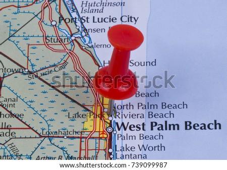 Lake Park Florida Map.Lake Park Florida Palm Beach County Stock Photo Edit Now 739099987