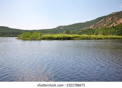 Lake Pasheno near Karkaralinsk. Karaganda Oblast. Kazakhstan