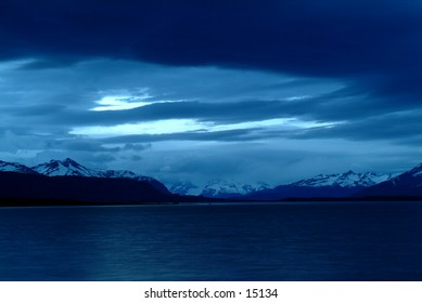 Lake in Patagonia - near Puerto Natales, Chile