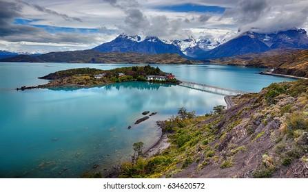 Lake Pehoe at Torres del Paine N.P. (Patagonia, Chile)