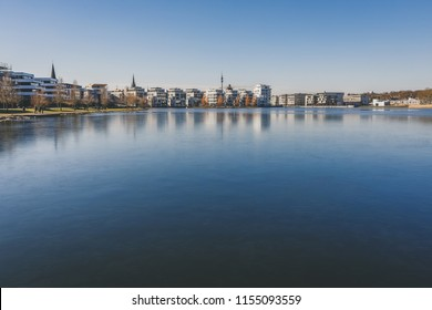 lake Phoenixsee in Dortmund in Germany