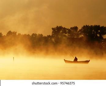Lake Pierty. Wigierski national park. Poland