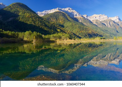 Lake in Pineta Valley in Pyrenees, Spain.