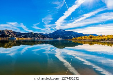 Lake Piru is a reservoir located in Los Padres National Forest and Topatopa Mountains of Ventura County, California, created in 1955 of Santa Felicia Dam on Piru Creek