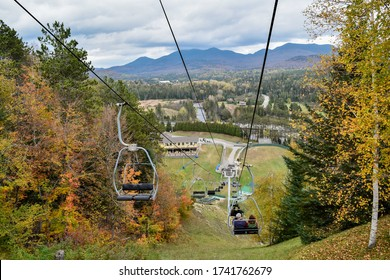 The Lake Placid Ski Lift in autumn - Shutterstock ID 1741762679