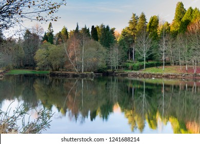 Lake of Castiñeiras in Pontevedra, Galicia (Spain)