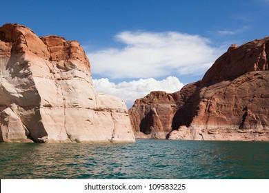 Lake Powell, in Glen Canyon  in Utah and Arizona - USA