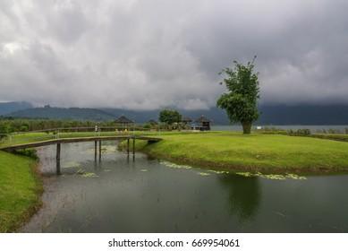 Lake in Pura Ulun Danu Bratan Temple, Bali, Indonesia