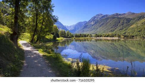 Lake in the Pyrenees mountains in the south of France