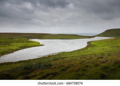 Lake in Rathlin Island, Northern Ireland