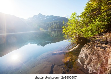 Lake in Rocky mountains