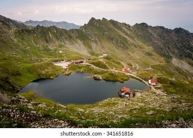 Bâlea Lake in the Romanian mountains