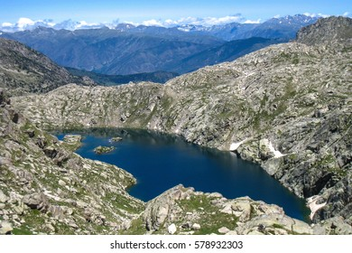 "Lake of Saburo.""Chariots of fire"" trail. Pyrenees mountain, Spain"