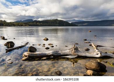 Lake Saint Clair in Cradle Mountain Lake St Clair National Park, Tasmania Australia