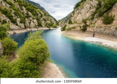 Lake of San Domenico in the Gorges of Sagittarius (Italy)