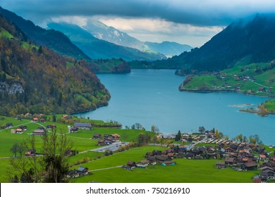 Lake Sarnen, canton of Obwalden, Switzerland.