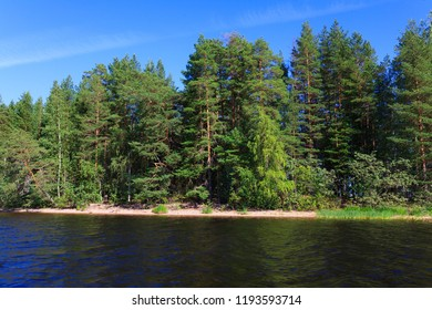 Lake scape in Finland at summer