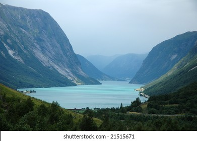 lake scenery in norway