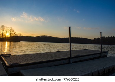 Lake Sebago Sunset in Harriman State Park in New York State