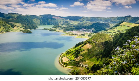 Lake of Sete Cidades, Azores, Portugal Europe