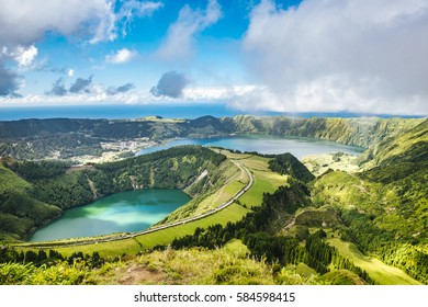 Lake of Sete Cidades in Sao Miguel, Azores