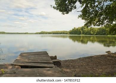 Lake shore in the mid-summer, Smolensk region, Russia