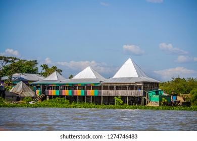 Lake side fish market in dunga beach kisumu