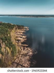 Lake Siemianowka photography taken by drone