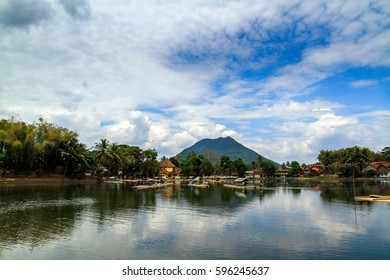 The lake of Situ Patenggang, West Java, Indonesia with Boat Fore