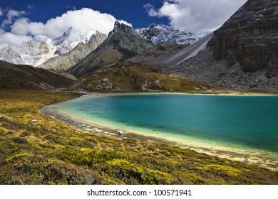 lake and snow mountain