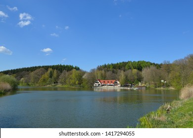 Lake in sohland spree in upper lusatia